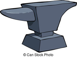 ... Cartoon anvil - Anvil on a white background vector.