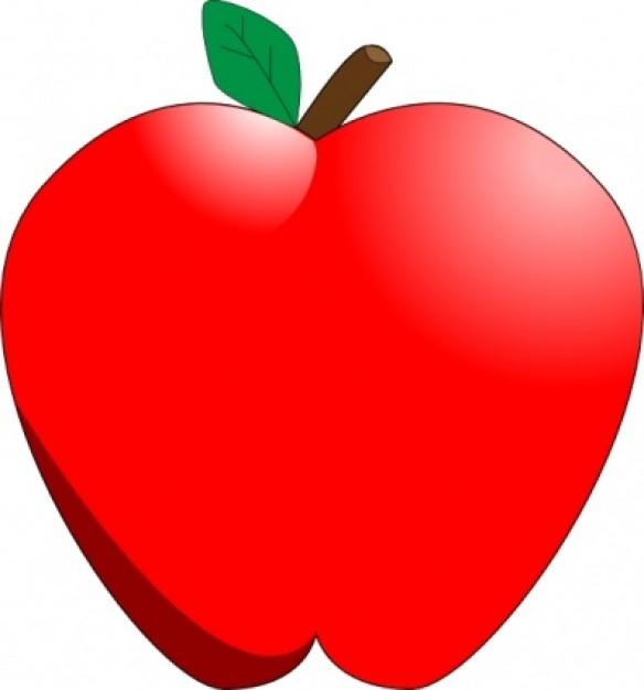 Cartoon Apple Clip Art Vector | Free Dow-Cartoon Apple clip art Vector | Free Download-15