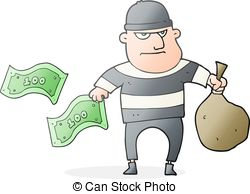 ... Cartoon Bank Robber - Freehand Drawn-... cartoon bank robber - freehand drawn cartoon bank robber-1