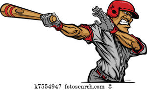 Cartoon Baseball Player Swinging Ba-Cartoon Baseball Player Swinging Ba-12