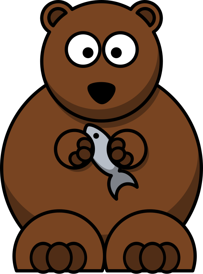 Cartoon bear clipart vector clip art free design
