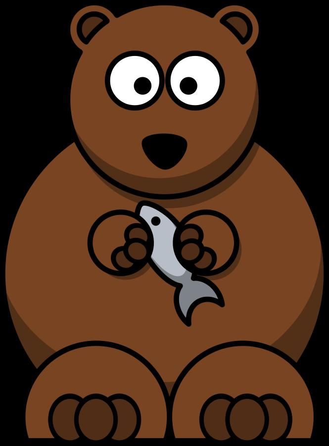 Cartoon bear clipart vector clip art free design
