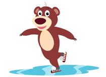 Cartoon Bear Ice Skating Animal Clipart -Cartoon Bear Ice Skating Animal Clipart Size: 57 Kb-2