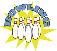 cartoon bowling pin and ball. Size: 59 Kb