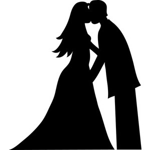 Cartoon bride and groom vector by seamartini on clipart image