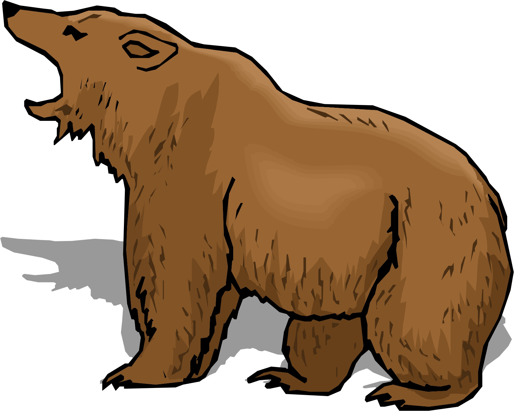 Cartoon Brown Bear - Clipart library