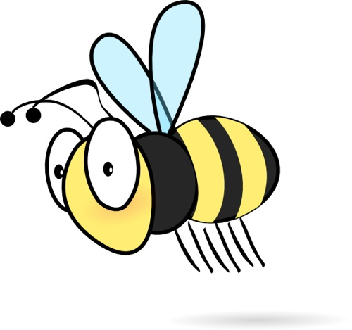 Cartoon bumble bee clip art clipart