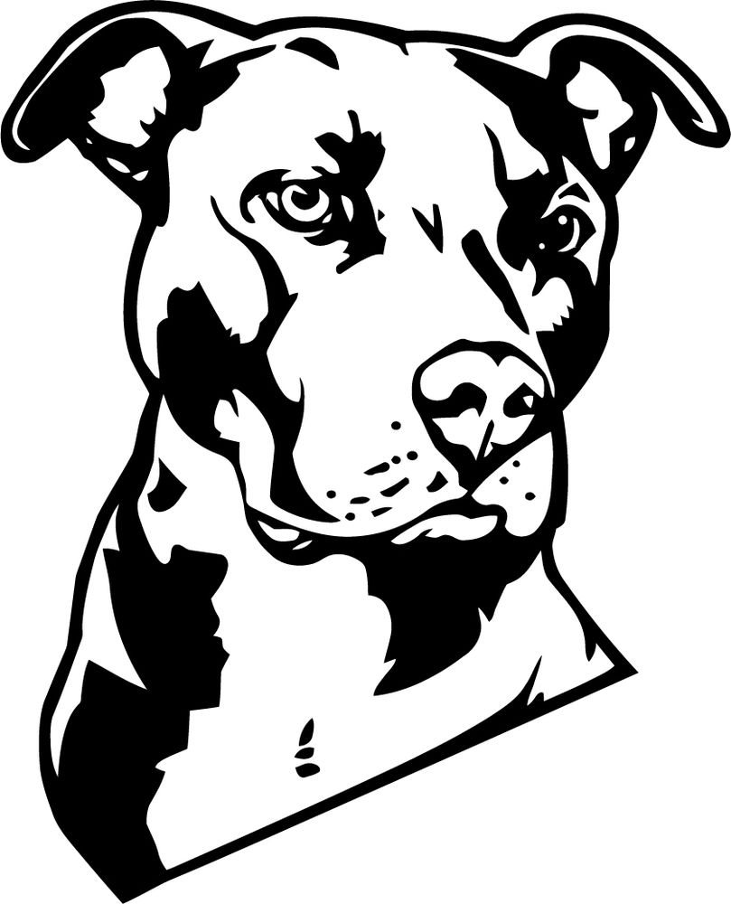 Cartoon Butterflies Clip Art. A large pitbull decal or vinyl .
