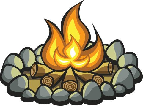 Cartoon Campfire vector art .-Cartoon Campfire vector art .-5