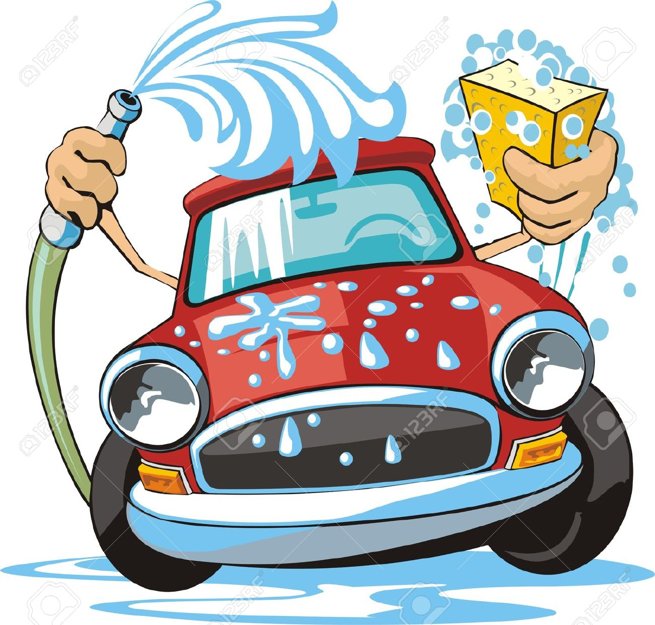 Cartoon Car Wash Clipart. Wash Stock Illustrations .