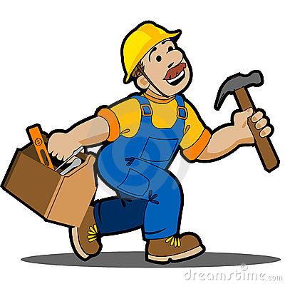 Cartoon Carpenter Logo Royalty .-Cartoon Carpenter Logo Royalty .-13