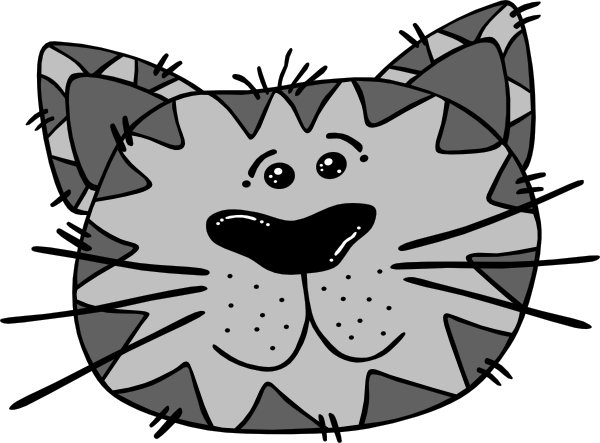 Cartoon Cat Face Clip Art at Clipart library - vector clip art online