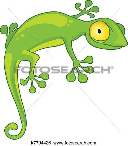 Cartoon Character Lizard