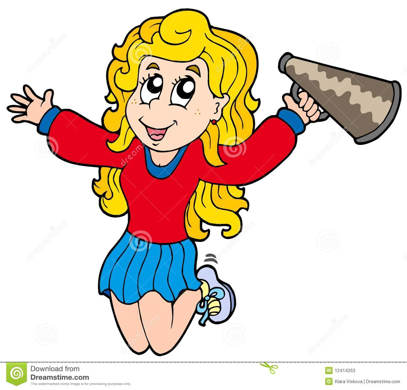 Cartoon cheerleader Stock Photos