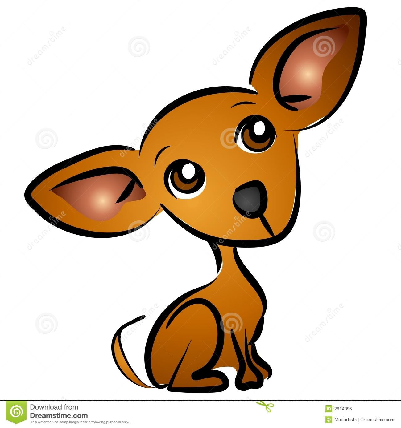 Cartoon Chihuahua Dog Clip Ar - Free Cartoon Clip Art
