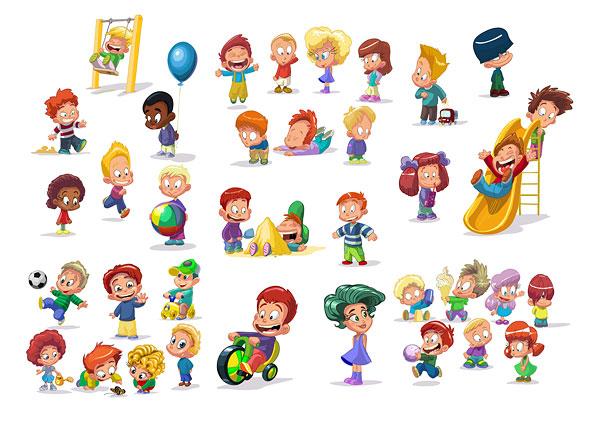 cartoon-children-clip-art- . - Free Cartoon Clip Art