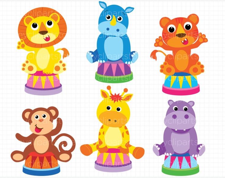 Circus Animals Clipart