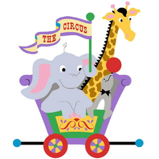 Cartoon Circus Animals Clipart. Circus_Animals-5