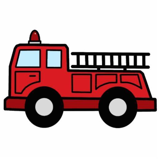 Cartoon Clip Art Firetruck Emergency Veh-Cartoon Clip Art Firetruck Emergency Vehicle Truck Acrylic Cut Outs-8