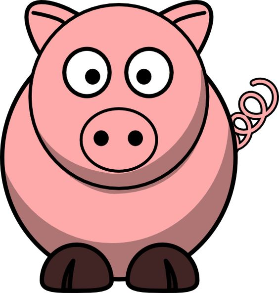 Cartoon Clipart: Free Pig Car - Pig Clipart Free