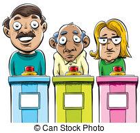 ... Cartoon Contestants - A Group Of Car-... Cartoon Contestants - A group of cartoon game show.-2