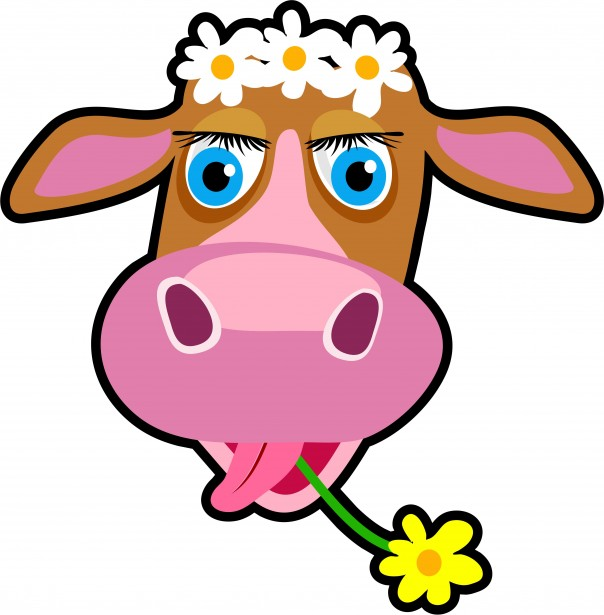 Cartoon Cow Clipart Free Stock Photo - Public Domain Pictures ...