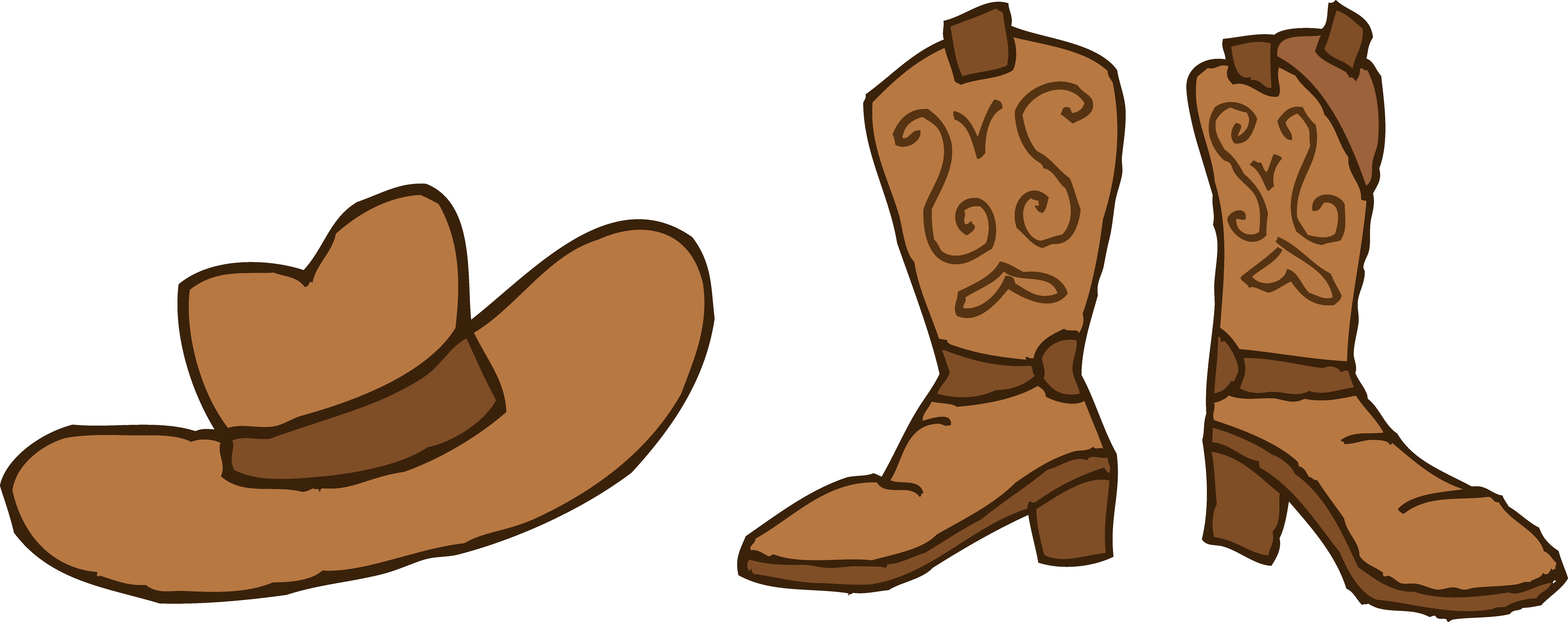Cartoon cowboy boots clipart - ClipartFox