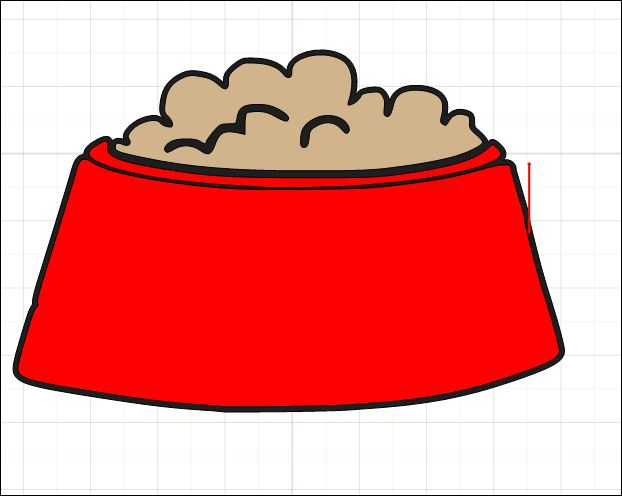 Cartoon Dog Food Bowl Cartoon Bowl Cartoon Dog Food Clipart