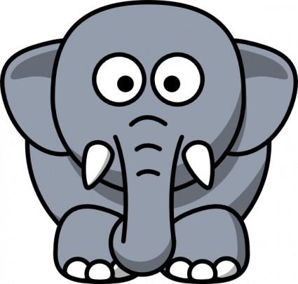 Cartoon Elephant Clip Art Free Vector In-Cartoon elephant clip art free vector in open office drawing svg-0