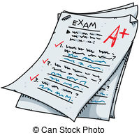 Cartoon Exam - A Cartoon Exam With An Ex-Cartoon Exam - A cartoon exam with an excellent mark. Cartoon Exam Clip Artby ...-0