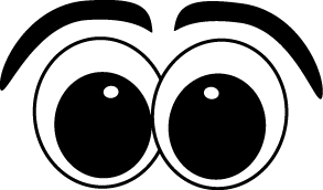 Cartoon Eyes Clip Art Image - set of cartoon eyes with eyebrows. This image is a transparent png.