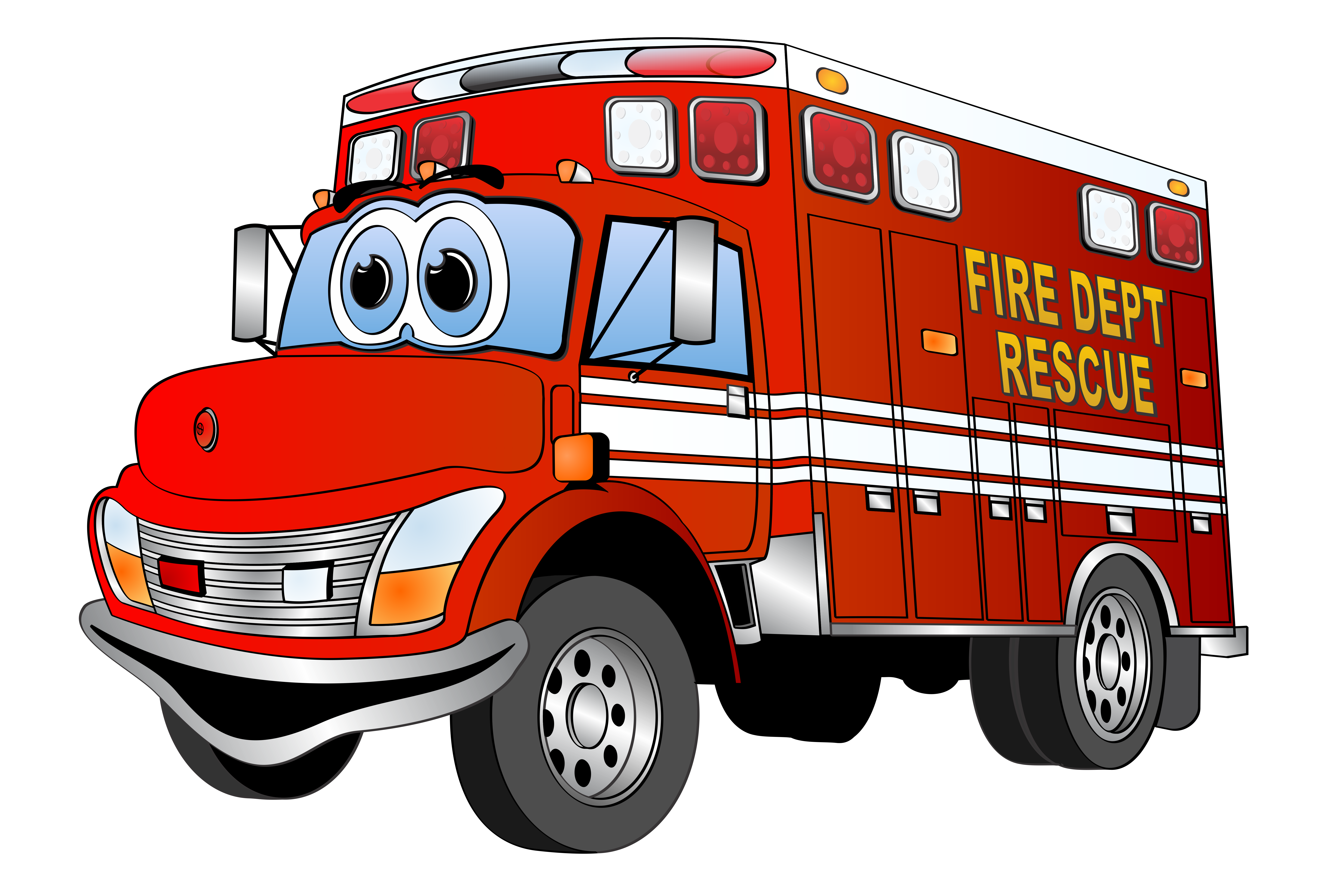 Cartoon Fire Truck - Clipart library