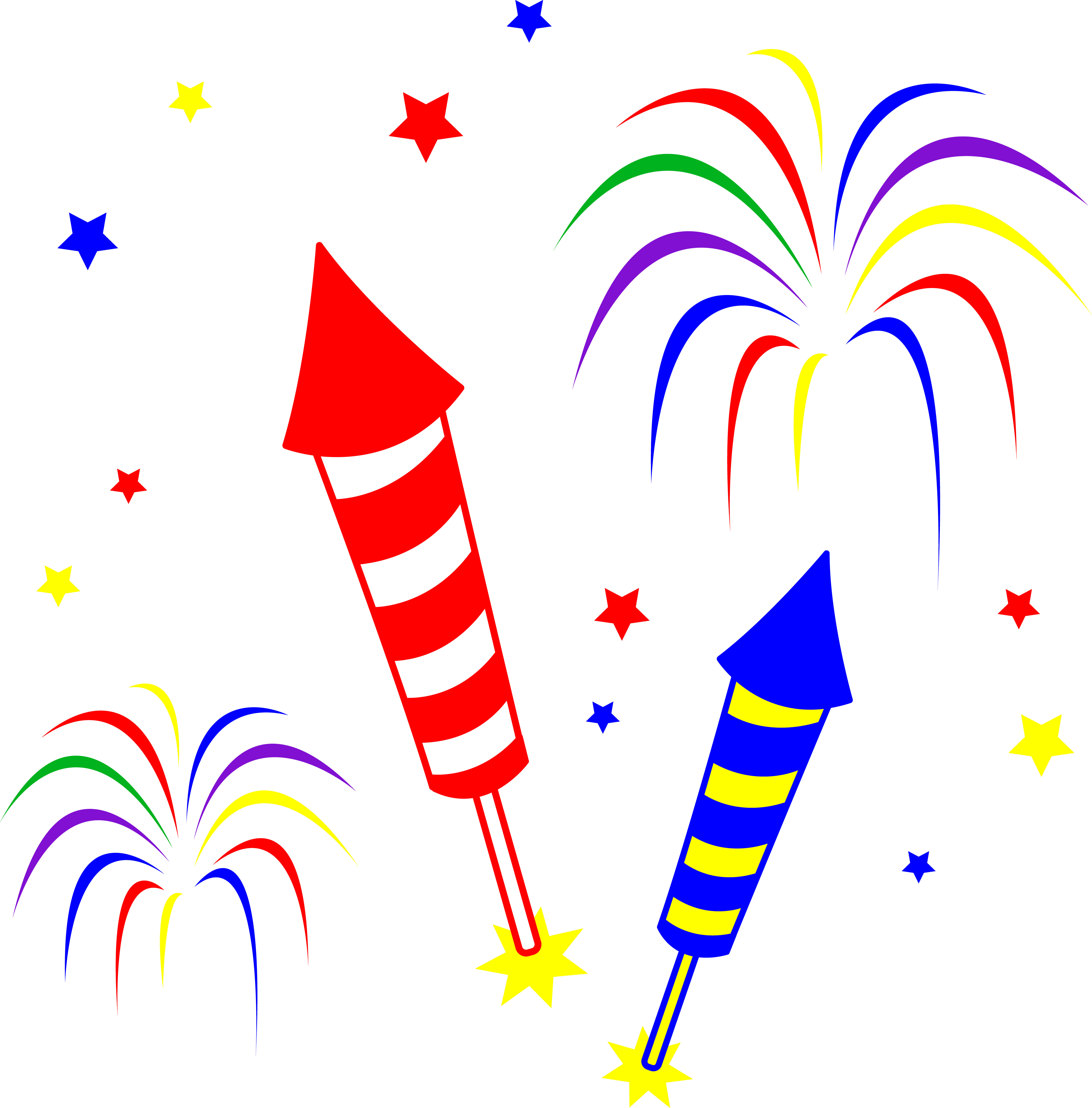 Cartoon Fireworks Clip Art Fr - Fireworks Pictures Free Clipart