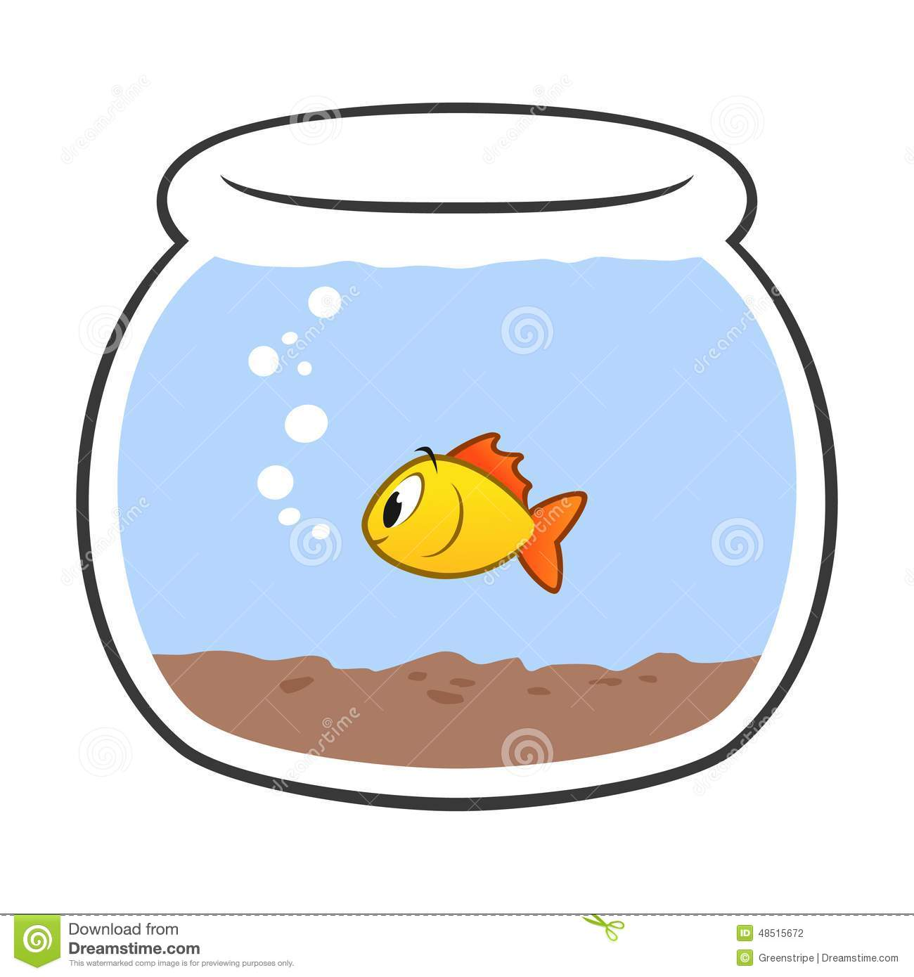 Cartoon Fish Bowl Stock Photography