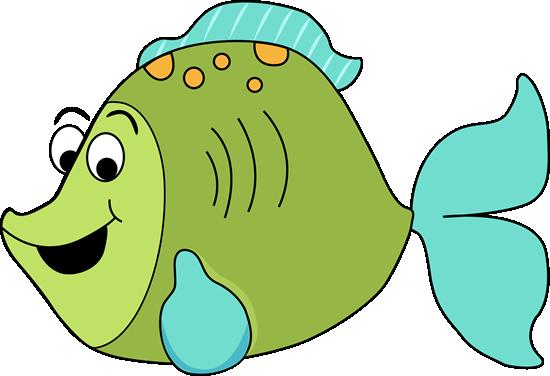 Cartoon Fish Clip Art Image Fun Green Cartoon Fish With Big Eyes A