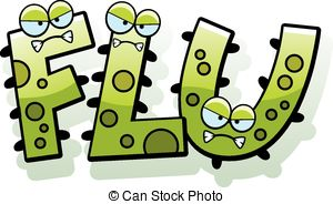 Cartoon Flu Bug Text - A ..