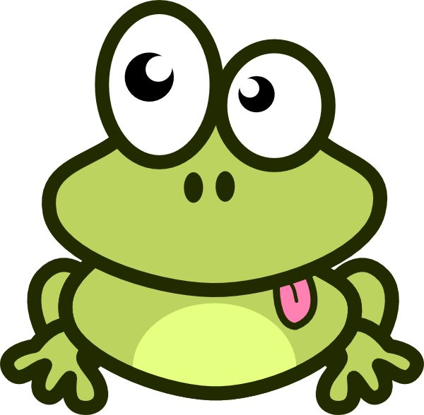 Cartoon Frog Clip Art | Frog Cartoon clip art - vector clip art online, royalty