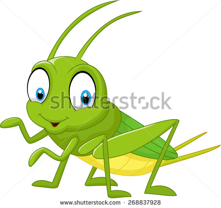 Cartoon funny cricket