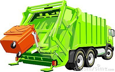 Cartoon Garbage Truck Stock .-Cartoon Garbage Truck Stock .-7