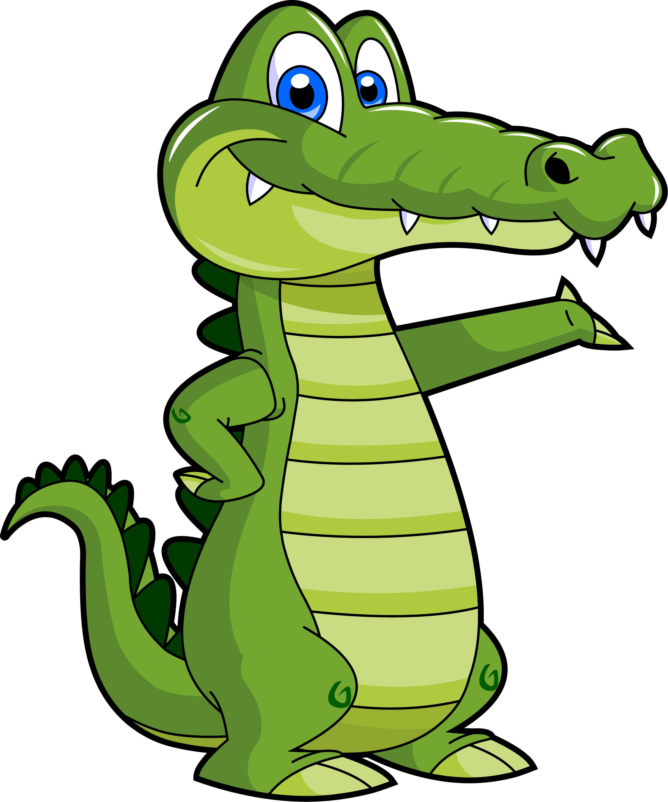 Cartoon Gator - Clipart library