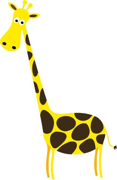 Cartoon Giraffe Clip Art Free .-Cartoon Giraffe clip art Free .-1