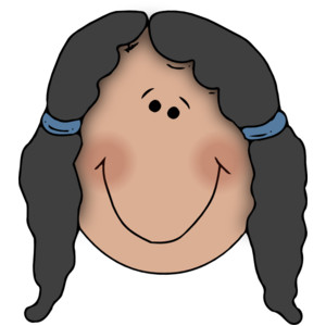 Cartoon girl face clipart clipartall