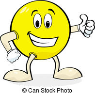 ... Cartoon giving thumbs up - Cartoon illustration of a happy.