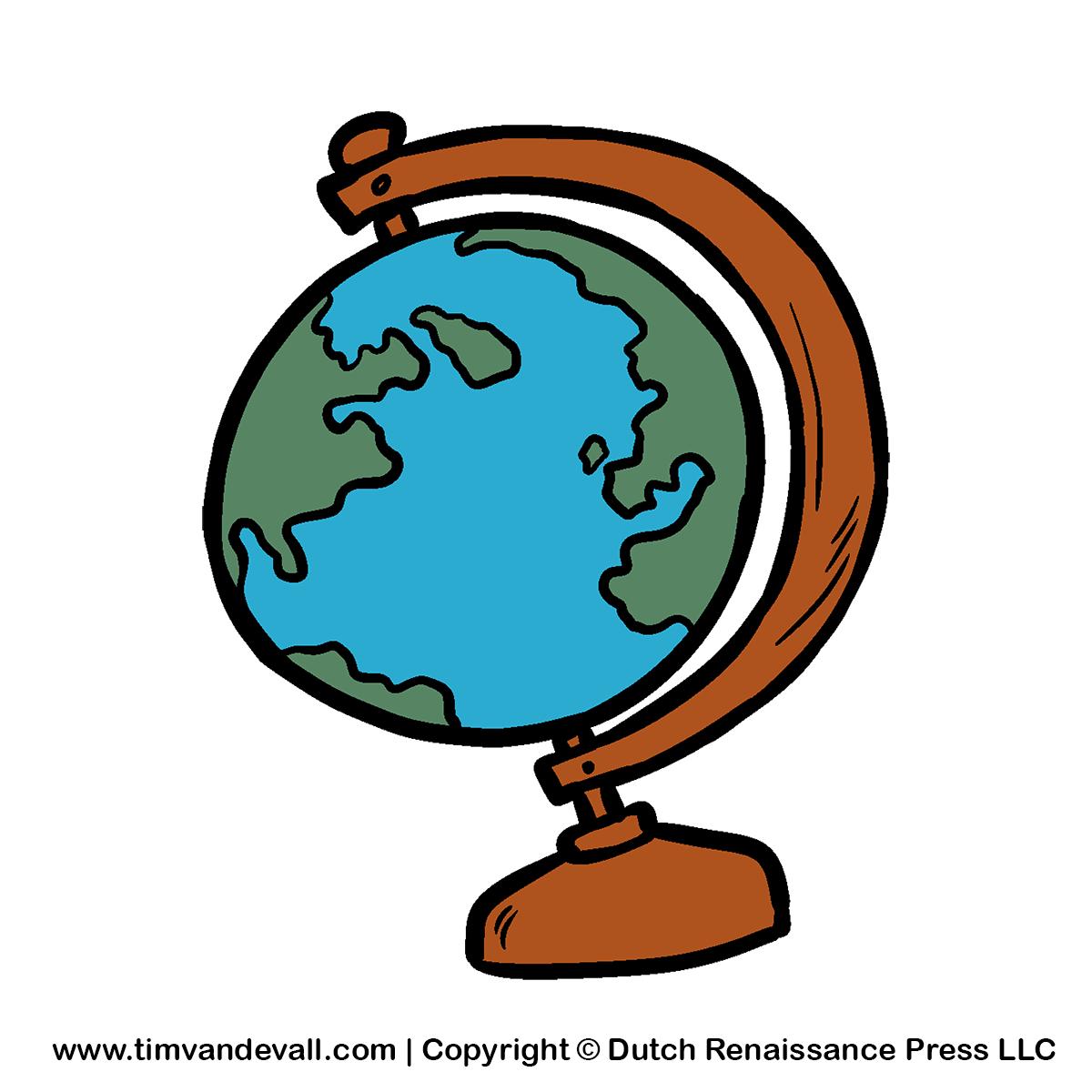 Cartoon Globe Clipart For Kids Social St-Cartoon Globe Clipart For Kids Social Studies Georgraphy Clipart-2