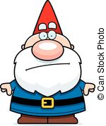 ... Cartoon Gnome Bored - A Cartoon Illu-... Cartoon Gnome Bored - A cartoon illustration of a gnome.-0
