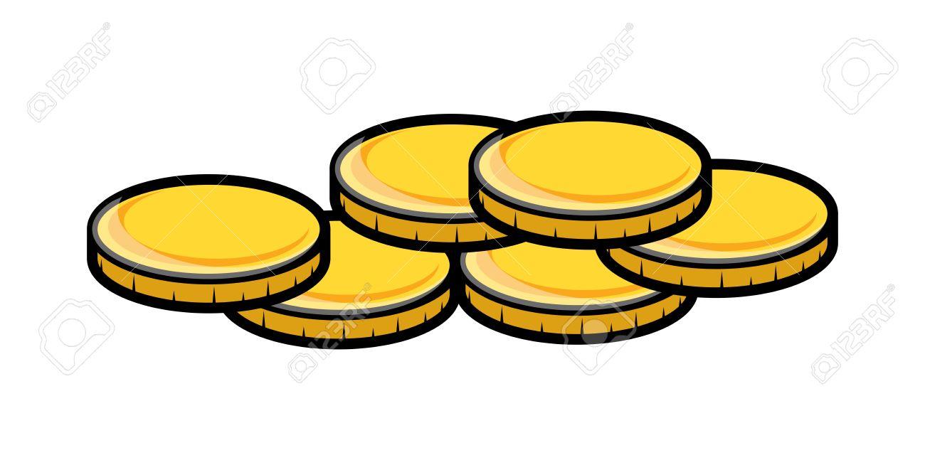 Cartoon Gold Coins Clipart .