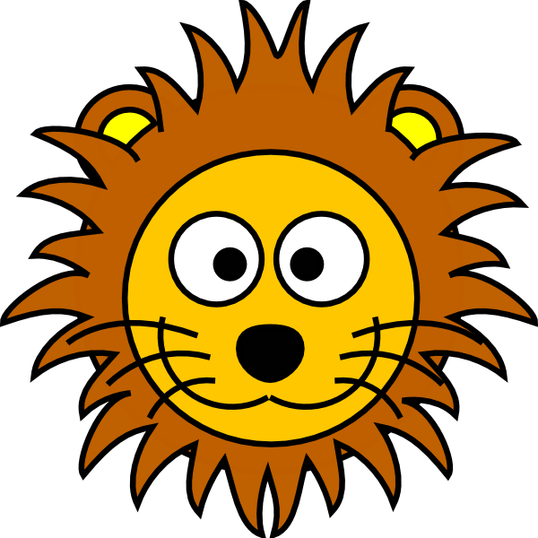 Cartoon Golden Lion 2 Clip Art At Clker Com Vector Clip Art Online