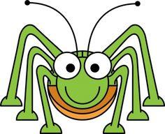 Cartoon Grasshopper clip art .