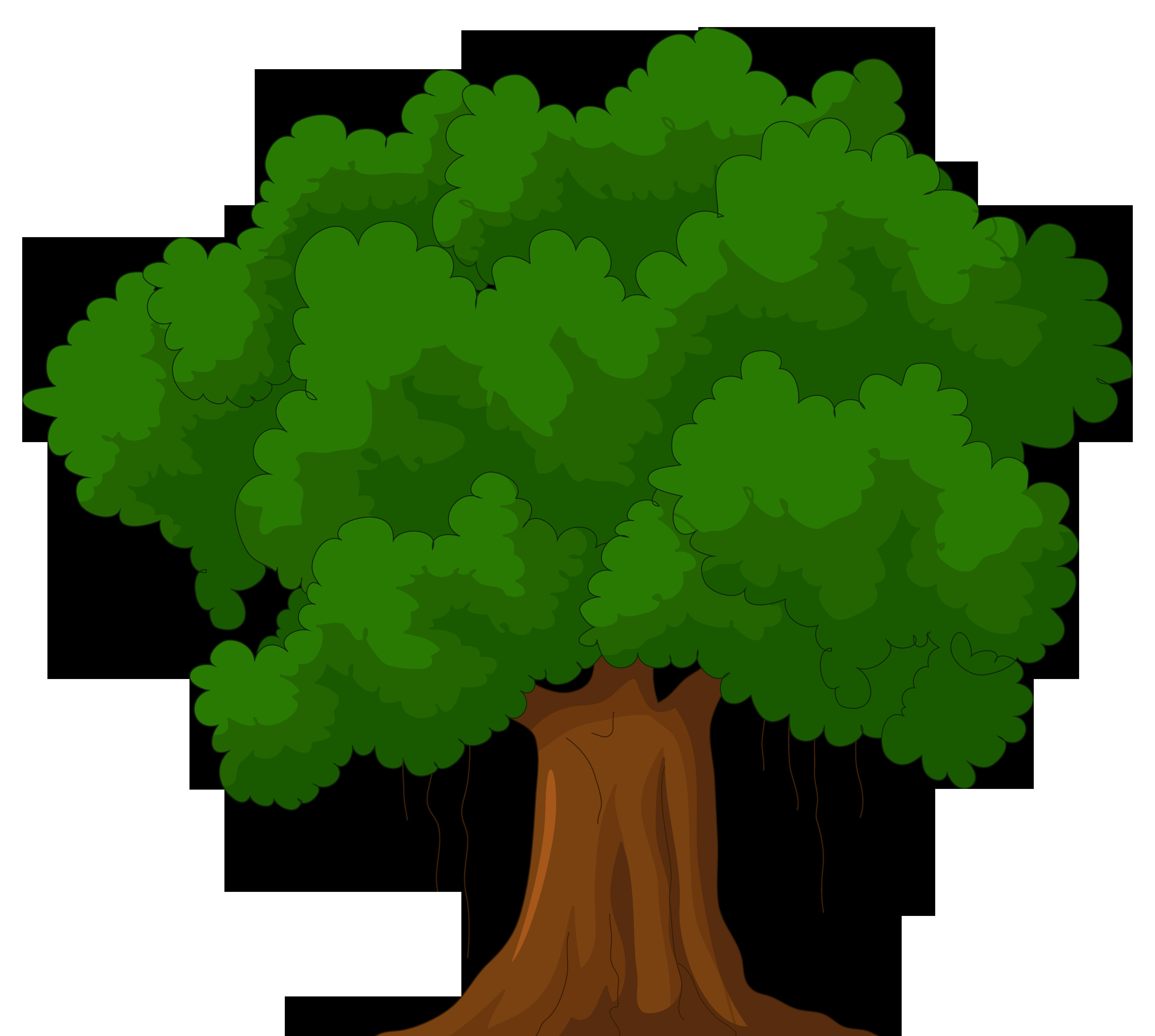 Cartoon green tree clipart we - Trees Clip Art