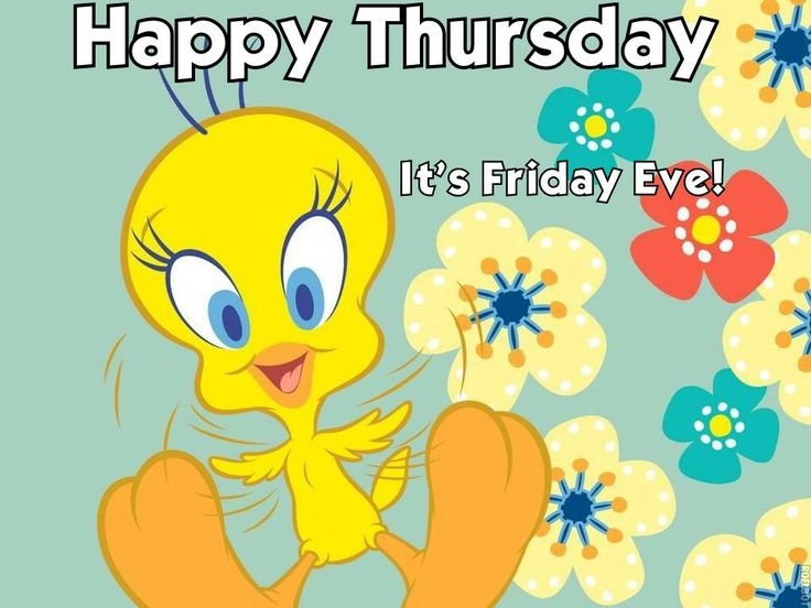 Cartoon Happy Thursday Clipart